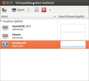 Virt-Manager main screen