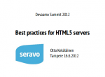 Best practices for HTML5 servers