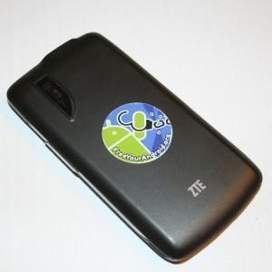 Free Your Android campaign sticker on a ZTE Blade