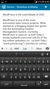 Wordpress Android Screenshot